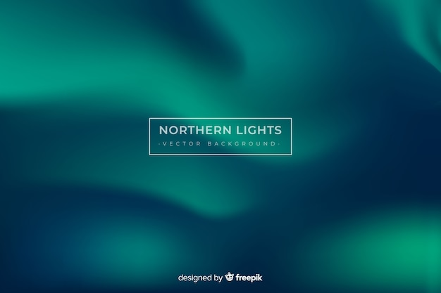 Northern lights background and copy space