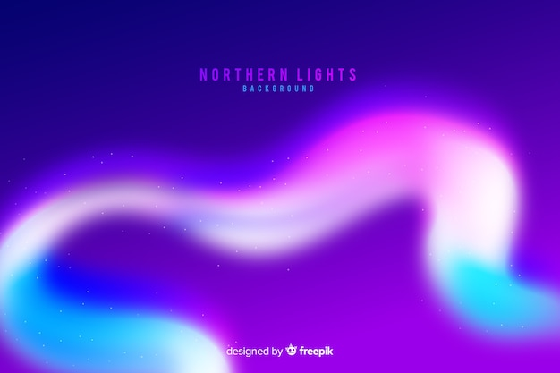 Northern lights colorful background