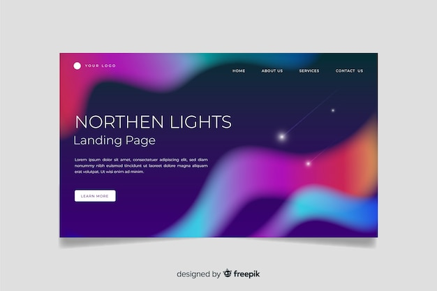 Northern lights landing page