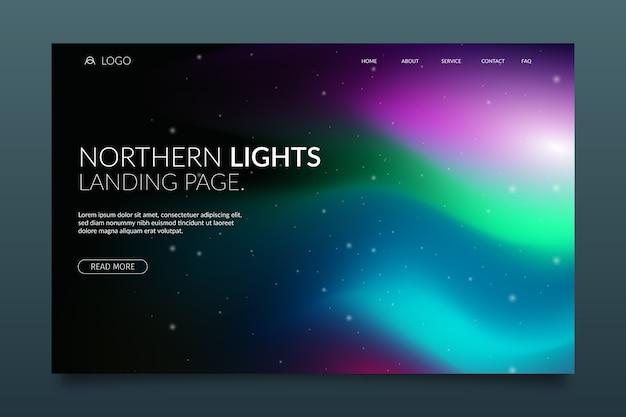 Pagina di destinazione dell'aurora boreale