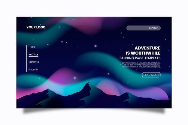Northern lights landing page