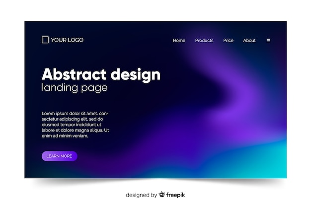 Northern lights night sky space landing page