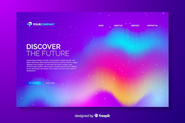 Northern lights template landing page