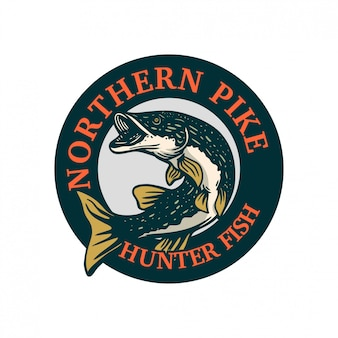 Northern pike circle badge