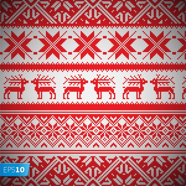 Norway christmas seamless pattern vector background