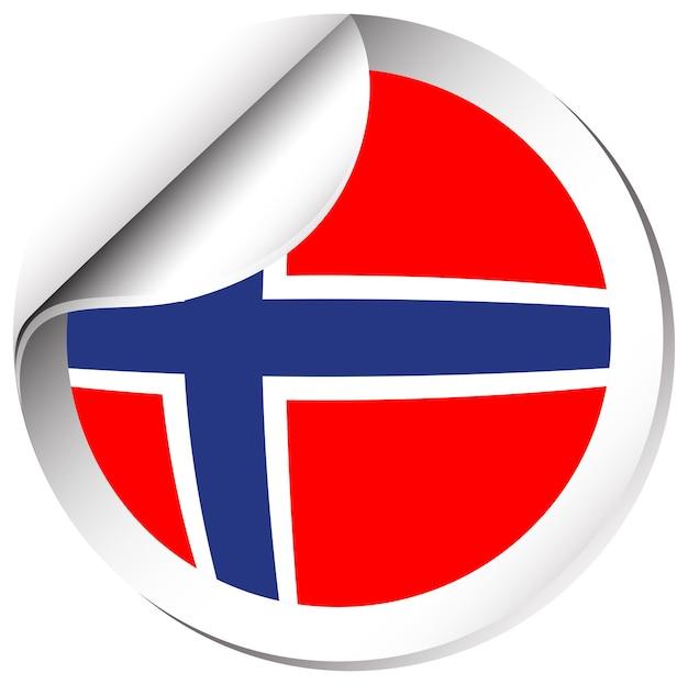 ステッカーデザインのノルウェー国旗