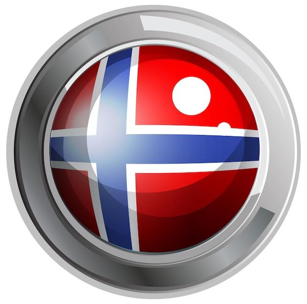 라운드 배지에 노르웨이 국기