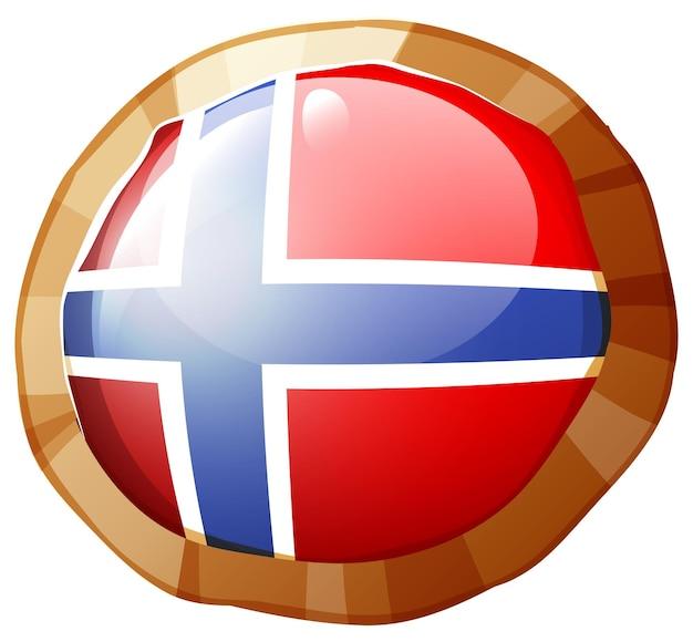 Norway flag on round frame