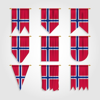 Norway flag in various shapes