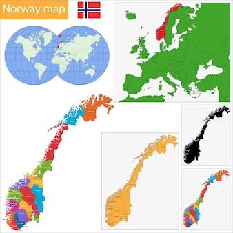 노르웨이지도