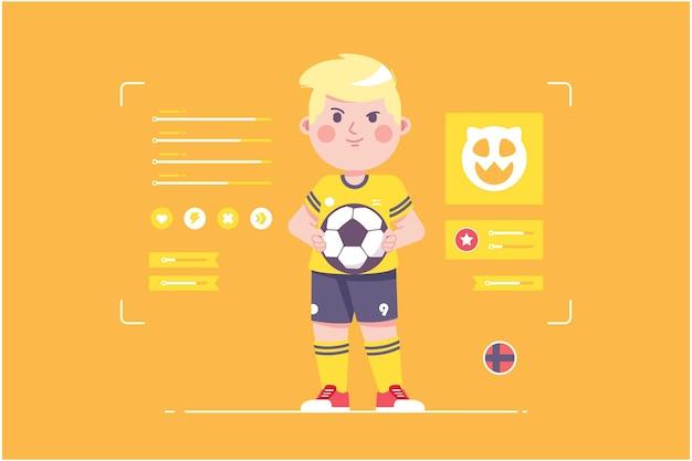 ノルウェーのサッカー選手のかわいいキャラクターデザイン