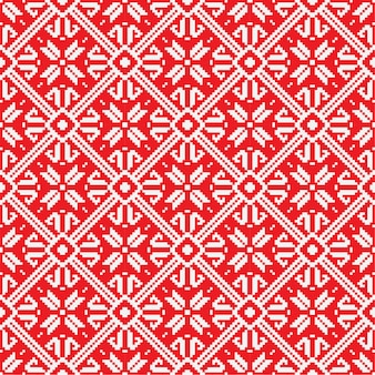 Norwegian christmas seamless pattern