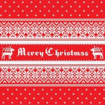 Norwegian christmas seamless pattern