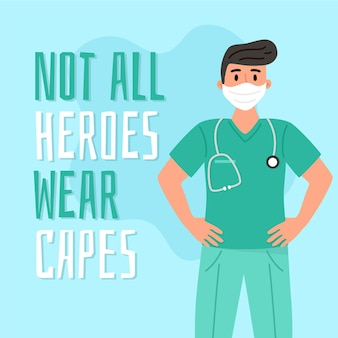 すべてのヒーローがケープのコンセプトを身に着けているわけではありません