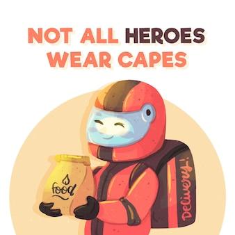 모든 영웅이 망토 개념을 착용하는 것은 아닙니다