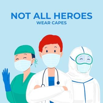 Не все герои носят надписи накидки