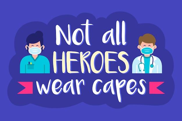 모든 영웅이 망토를 입는 것은 아닙니다
