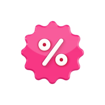 Notched stamp with percent