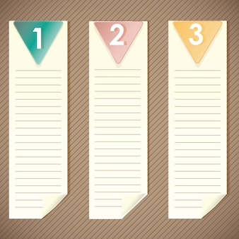 Note list with numbers on vintage background