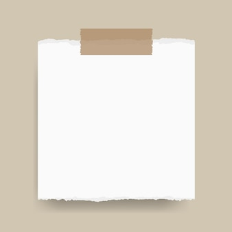 Note memo paper with adhesive tape copy space vector illustration