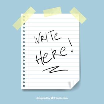 Note of paper sticky