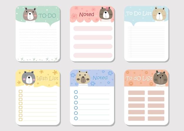 Бумага для заметок и список дел для блокнота