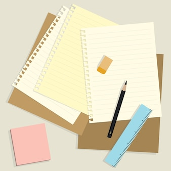 Note paper background in flat style