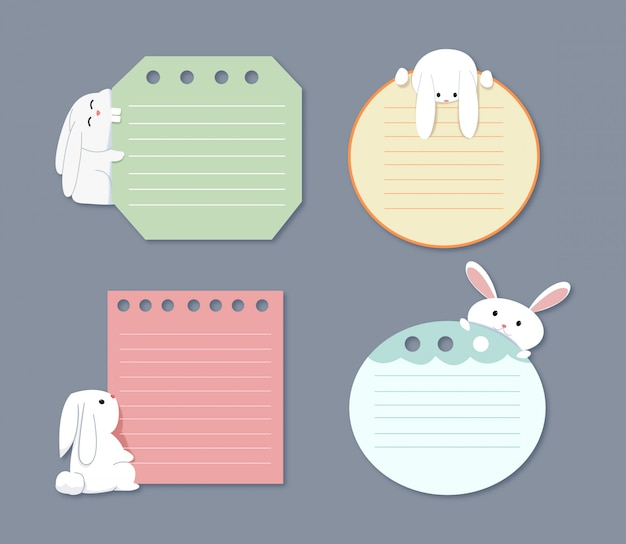A note set with bunny