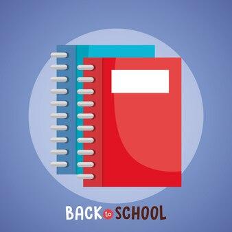 Notebook back to school supply vector illustration design