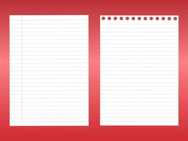 Notebook blank sheets vector pack