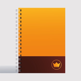 Notebook, corporate identity template on white background illustration