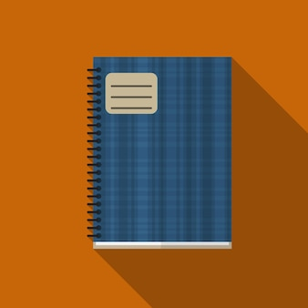 Notebook flat icon illustration isolated vector sign symbol