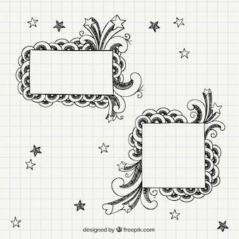Notebook frames Free Vector