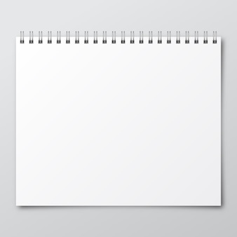 Ноутбук. макет бумажного блокнота.