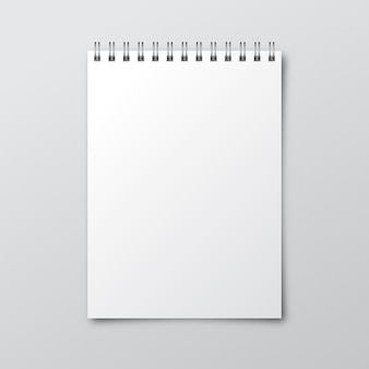 Notebook. mockup of paper notebook. template of notebook