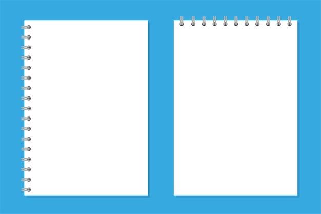 Notebook mockup set for your image vector illustration