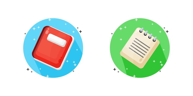 Notebook and note icon   design