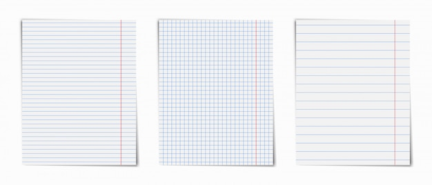 Notebook pages set .