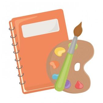 Notebook and school supplies design
