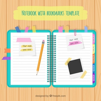 Notebook with accessories