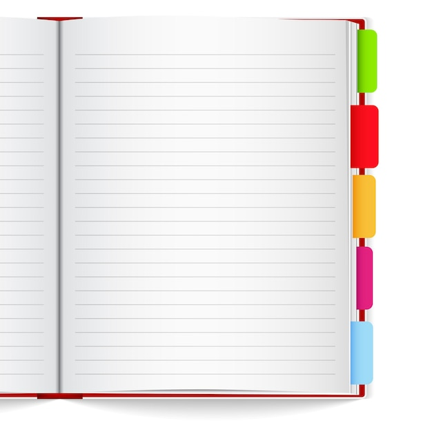 Notebook with bookmarks,