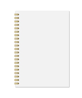 Notebook with gold spiral