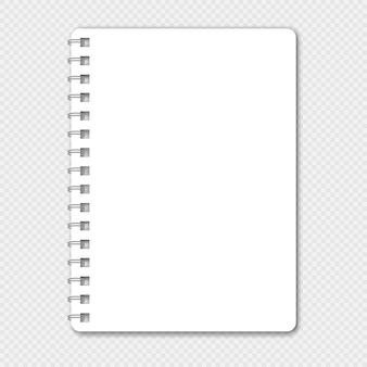 画像やテキストを置く場所のあるノートブック