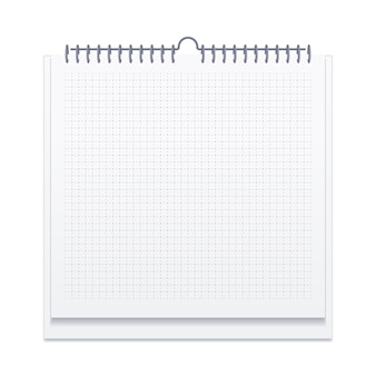 Notebook with squared pages