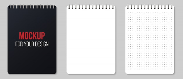 Notebooks lined and dots