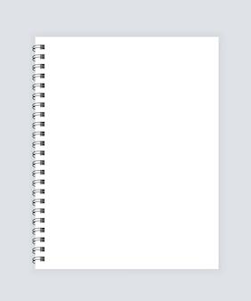 Блокнот. макет блокнота с местом для вашего изображения, текста или деталей фирменного стиля. реалистичный макет спирального блокнота