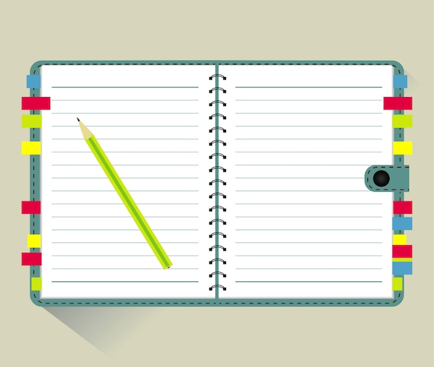 Notepad and paper sheets isolated