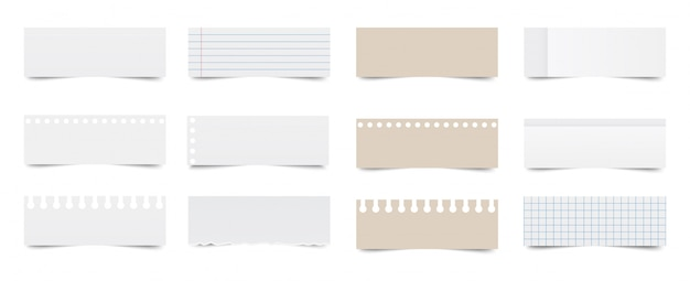 Блокнот. лист из тетради. бумаги для заметок