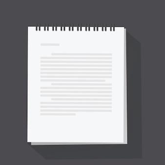 Notepad sheet vector illustration