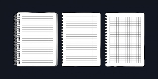 Notepad on springs and pages